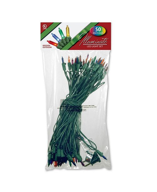 National Tree Company 50 LED Bulb Light String Set, Multicolor