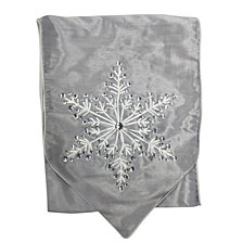 "National Tree Company 13"" x 72"" Table Runner with Snowflake Design"