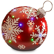 "National Tree Company 18"" Pre-Lit Ball Ornament Decoration"