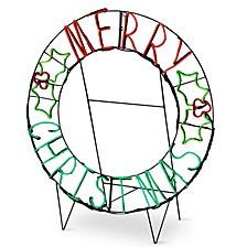 "41"" LED Light Strip ""Merry Christmas"" Decoration"