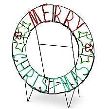 "National Tree Company 41"" LED Light Strip ""Merry Christmas"" Decoration"