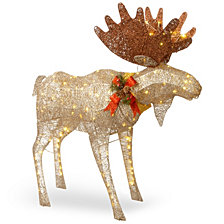 "National Tree Company 48"" Moose Decoration with White LED Lights"
