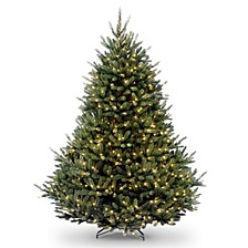 National Tree 7 .5' Natural Fraser Fir Hngd Tree with 1200 Clear Lights