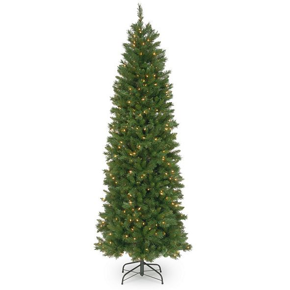 National Tree Company National Tree 7 .5' Pennington Fir Hinged Pencil Tree with 350 Clear Lights
