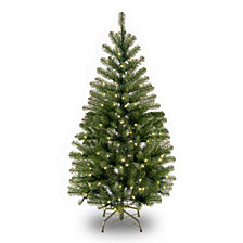 National Tree 4' Spruce Tree with 100 Clear Lights