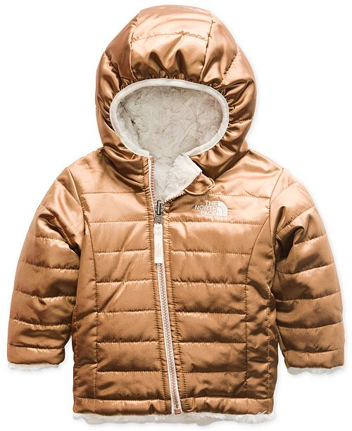fa9bb3900242 The North Face Baby Girls Reversible Mossbud Swirl Hooded Jacket ...