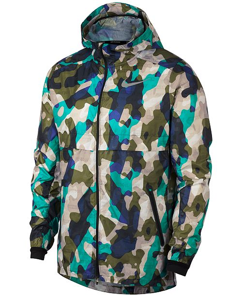 4596d3f92f66b Nike Men's Ghost Camo-Print Running Jacket & Reviews - Coats ...