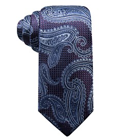 Tasso Elba Men's Paisley Silk Tie, Created for Macy's