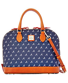 Dooney & Bourke Atlanta Braves Dooney & Bourke Zip Zip Satchel