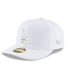 New Era Los Angeles Dodgers Triple White Low Profile 59FIFTY Fitted Cap
