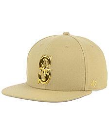 '47 Brand Seattle Mariners Khaki Snapback Cap