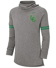 Nike Women's Oregon Ducks Funnel Neck Long Sleeve T-Shirt