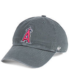'47 Brand Boys' Los Angeles Angels Charcoal CLEAN UP Strapback Cap