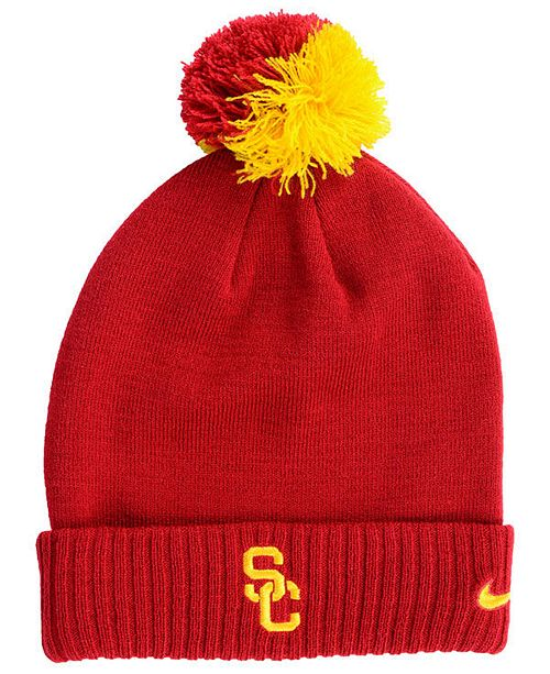 innovative design 31e93 f3397 Nike. USC Trojans Beanie Sideline Pom Hat. Be the first to Write a Review.  main image  main image