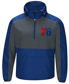 G-III Sports Men's Philadelphia 76ers Leadoff Lightweight Half-Zip Jacket