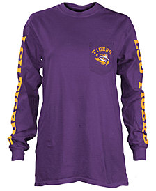Pressbox Women's LSU Tigers Long Sleeve Pocket T-Shirt