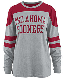 Pressbox Women's Oklahoma Sooners Appliqué Boyfriend Long Sleeve T-Shirt