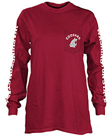 Pressbox Women's Washington State Cougars Long Sleeve Pocket T-Shirt