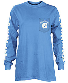 Pressbox Women's North Carolina Tar Heels Long Sleeve Pocket T-Shirt