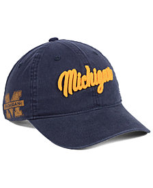 Zephyr Michigan Wolverines Scroll Adjustable Strapback Cap