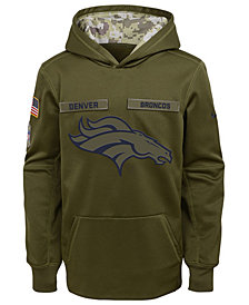 Nike Denver Broncos Salute To Service Therma Hoodie, Big Boys (8-20)