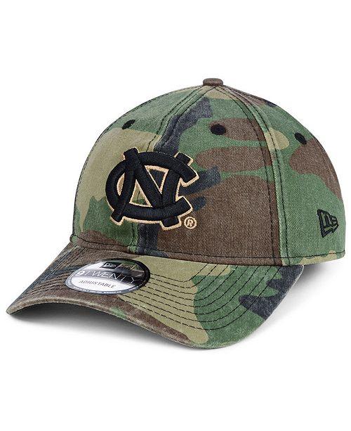 New Era North Carolina Tar Heels Woodland Classic Twill 9TWENTY Strapback Cap