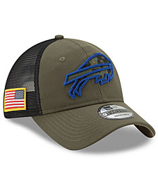 New Era Buffalo Bills Camo Service Patch 9TWENTY Trucker Cap