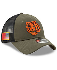 New Era Cincinnati Bengals Camo Service Patch 9TWENTY Trucker Cap