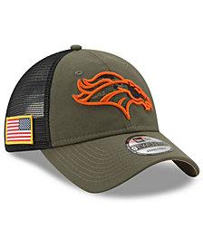 New Era Denver Broncos Camo Service Patch 9TWENTY Trucker Cap