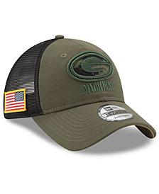 New Era Green Bay Packers Camo Service Patch 9TWENTY Trucker Cap