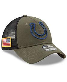 New Era Indianapolis Colts Camo Service Patch 9TWENTY Trucker Cap