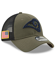 New Era Los Angeles Rams Camo Service Patch 9TWENTY Trucker Cap