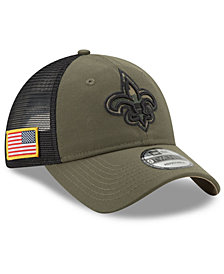 New Era New Orleans Saints Camo Service Patch 9TWENTY Trucker Cap