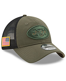 New Era New York Jets Camo Service Patch 9TWENTY Trucker Cap