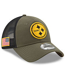 New Era Pittsburgh Steelers Camo Service Patch 9TWENTY Trucker Cap