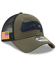 New Era Seattle Seahawks Camo Service Patch 9TWENTY Trucker Cap