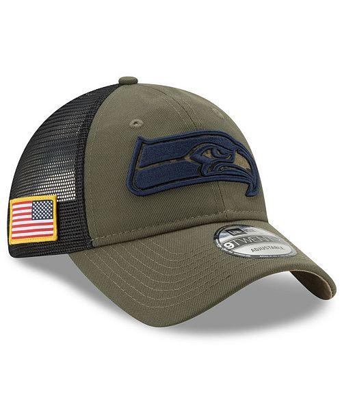 914b1c0db354e ... New Era Seattle Seahawks Camo Service Patch 9TWENTY Trucker Cap ...