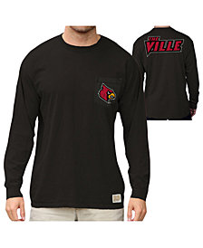 Retro Brand Men's Louisville Cardinals Heavy Weight Long Sleeve Pocket T-Shirt