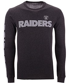 Men's Oakland Raiders Streak Route Long Sleeve T-Shirt