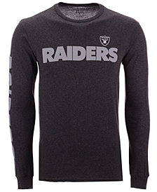 Authentic NFL Apparel Men's Oakland Raiders Streak Route Long Sleeve T-Shirt