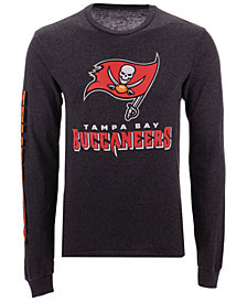 Authentic NFL Apparel Men's Tampa Bay Buccaneers Streak Route Long Sleeve T-Shirt
