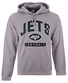 Authentic NFL Apparel Men's New York Jets Gym Class Hoodie
