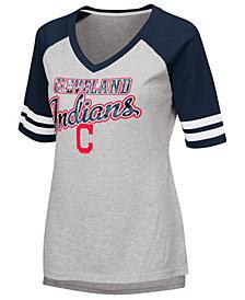 G-III Sports Women's Cleveland Indians Goal Line Raglan T-Shirt