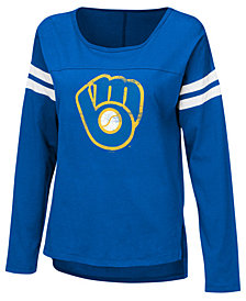 Touch by Alyssa Milano Women's Milwaukee Brewers Free Agent Long Sleeve T-Shirt