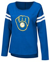 6193a545d Touch by Alyssa Milano Women s Milwaukee Brewers Free Agent Long Sleeve T- Shirt