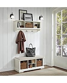 Brennan 2 Piece Entryway Bench And Shelf Set