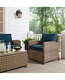 Bradenton Outdoor Wicker Arm Chair With Cushions