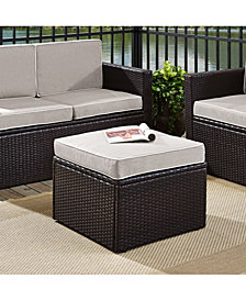 Palm Harbor Outdoor Wicker Ottoman With Cushions