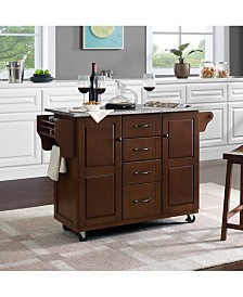 Eleanor Solid Granite Top Kitchen Cart