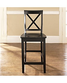 """X-Back Bar Stool With 24"""" Seat Height (Set Of 2)"""